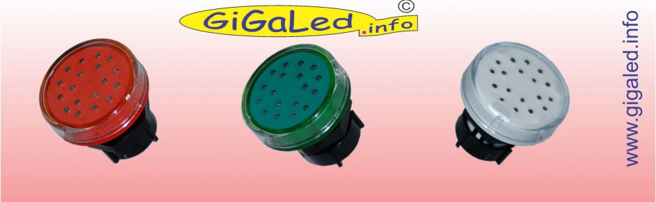 GiGaLed 48 Single Color. Orange, Green and White