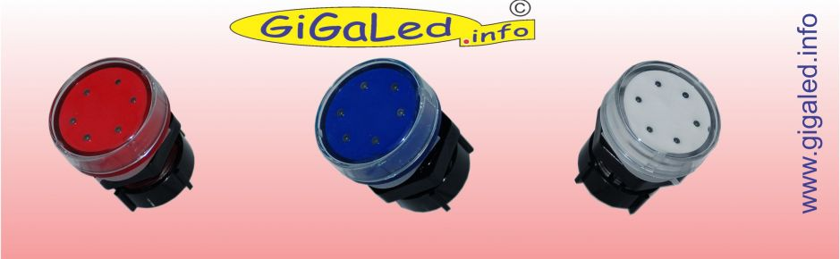 GiGaLed 38  Single Color. Red, Blue and Yellow